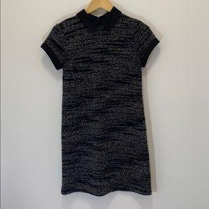 Madison Jules tweed shirt dress with collar